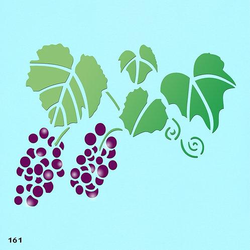 161 שבלונה עלי גפן וענבים