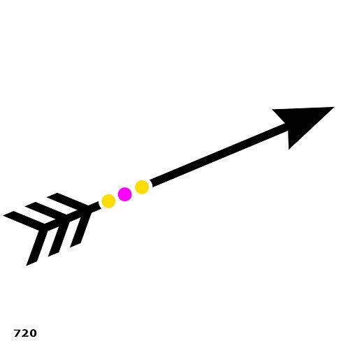 720 שבלונה חץ
