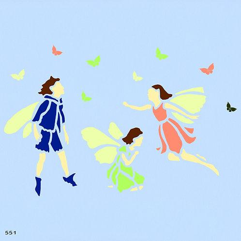551 שבלונה מלאכים ופיות
