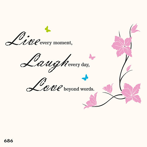 686 שבלונה LIVE LAUGH LOVE