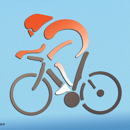 389 שבלונה רוכב אופניים