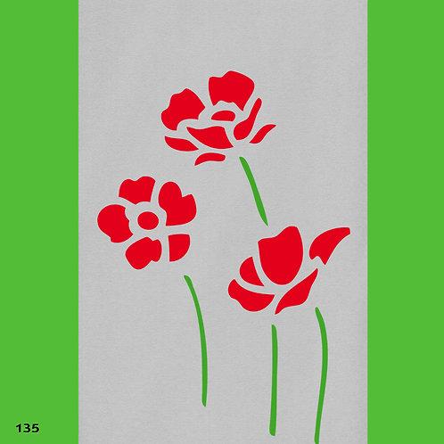 135 שבלונה פרחים - כלניות