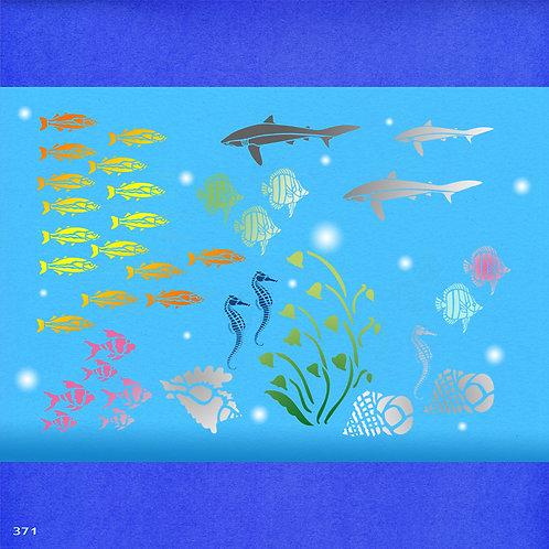 371 שבלונה אקווריום דגים