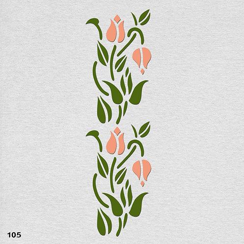 105 שבלונה בורדר עיטורי צמחים