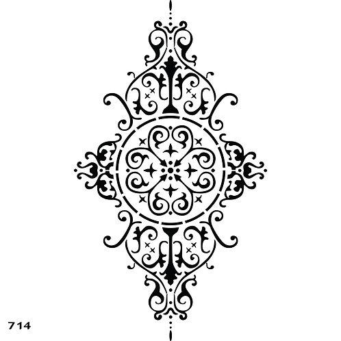 714 שבלונה עיטור קלאסי מאורך ומעודן