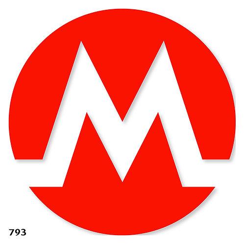 793 שבלונה סימול רכבת תחתית METRO,  UNDERGROUND