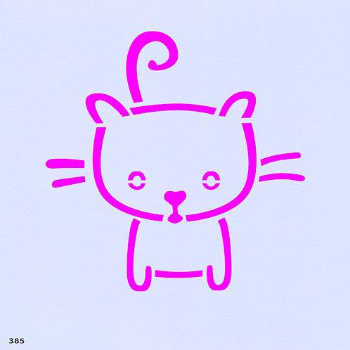 385 שבלונה חתול חמוד