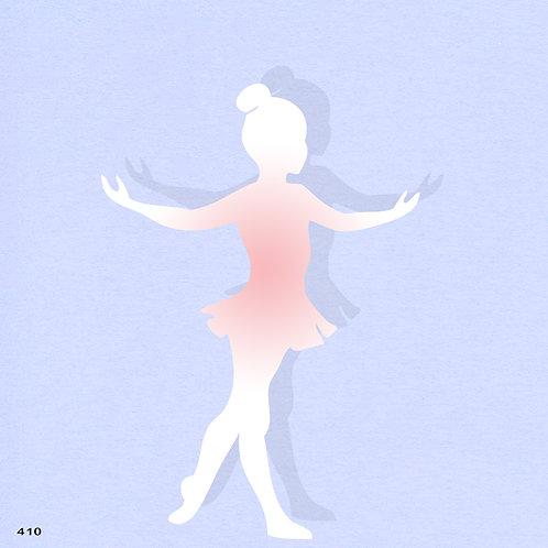 410 שבלונה ילדה רקדנית בסגנון קלאסי