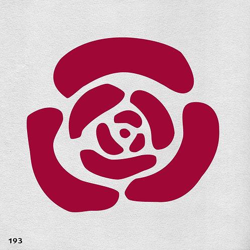 193 שבלונה פרחים - בסגנון מודרני