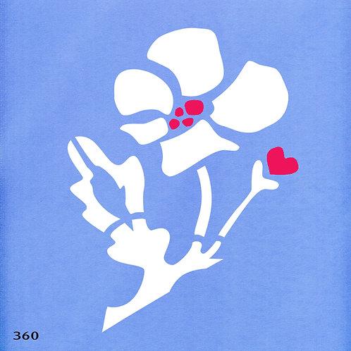 360 שבלונה פרח דמיוני