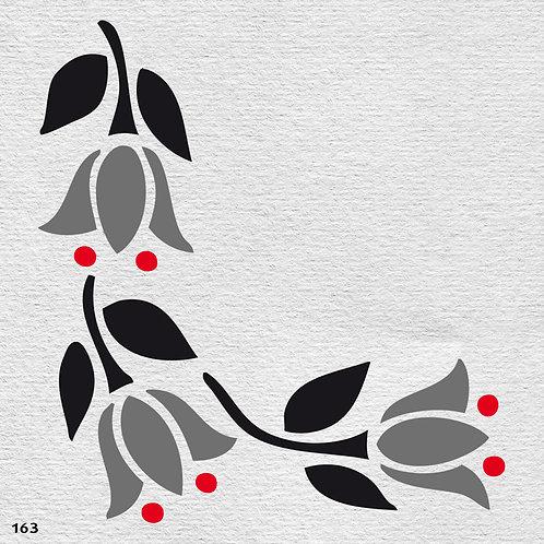 163 שבלונה פרחים -מבנה פינתי