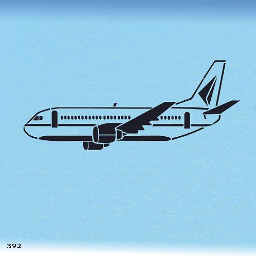 392 שבלונה מטוס נוסעים ענק