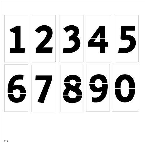 878 שבלונת ספרות לחנייה