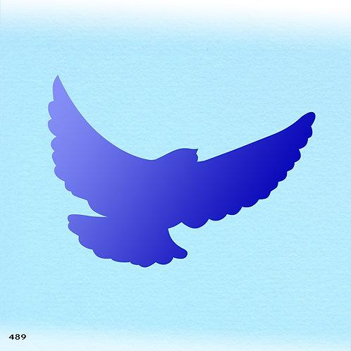 489 שבלונה ציפור במעוף