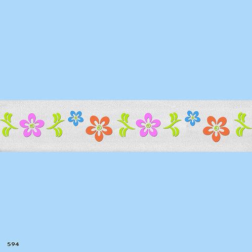 594 שבלונה בורדר פרחים