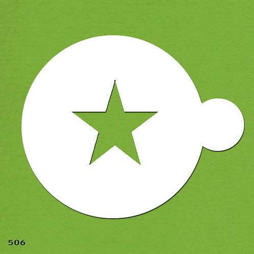 506 שבלונה ליצירת דוגמאות בקפה ובעוגות בצורת כוכב