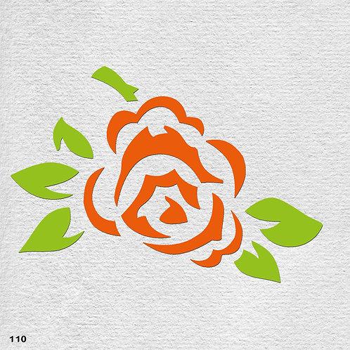 110 שבלונה פרחים -  ורד