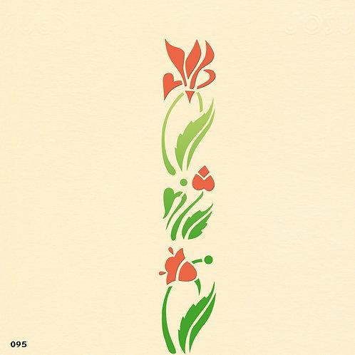 095 שבלונה בורדר פרחים