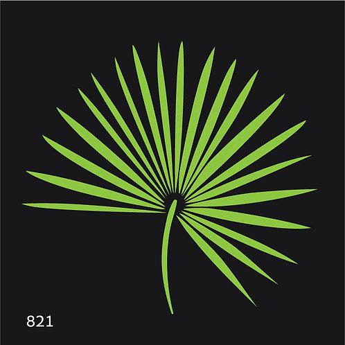 821 שבלונה ענף עץ דקל