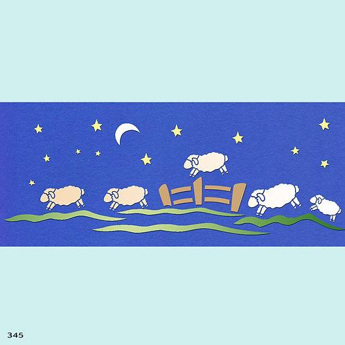 345 שבלונת כבשים
