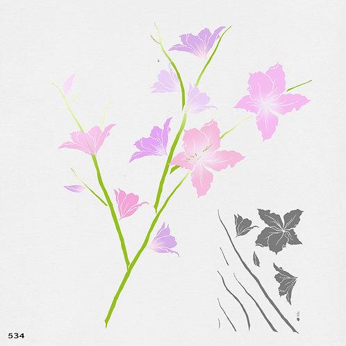 534 שבלונה פרחי בוהנייה
