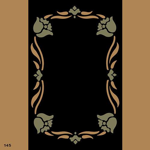 145 שבלונה מסגרת בסגנון קלאסי