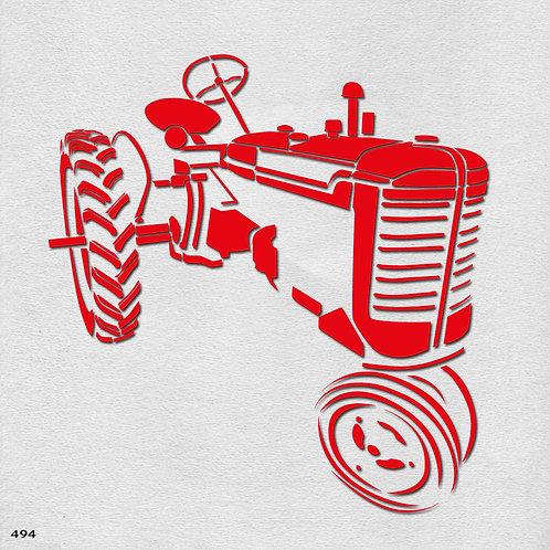 494 שבלונה טרקטור פארמל אדום