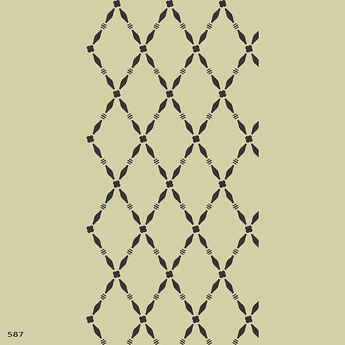 587 שבלונה טפט בדוגמת מעוינים