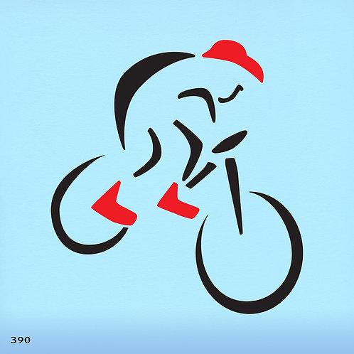 390 שבלונה רוכב אופניים