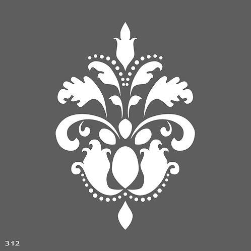 312 שבלונה עיטור קלאסי מפואר