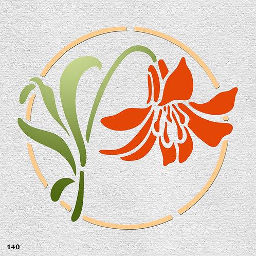 140 שבלונה פרחים - חבצלת