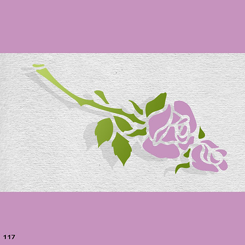 117 שבלונה פרחים -  זוג ורדים