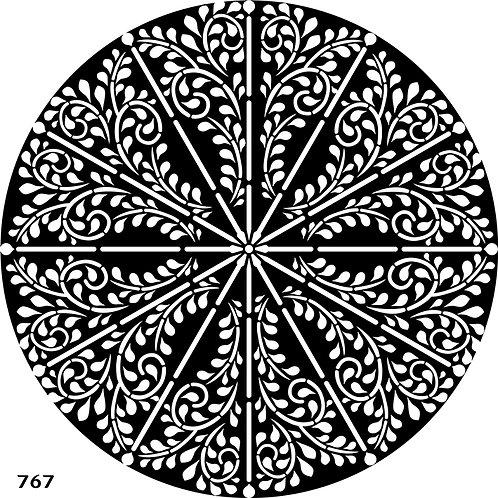 767 שבלונת מנדלה / עיטור עגול מדהימה ביופיה
