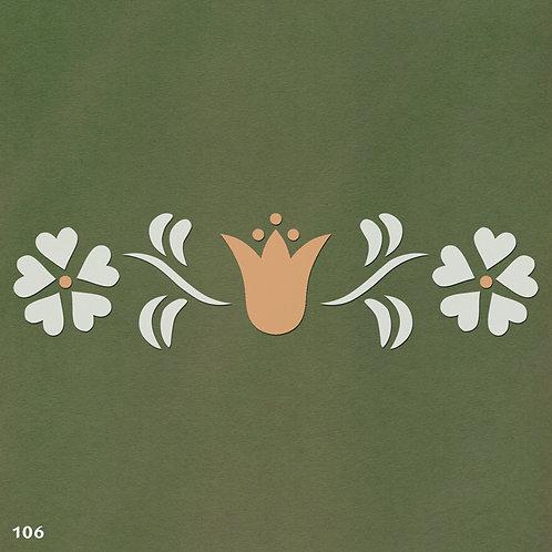 106 שבלונה בורדר עיטורי צמחים