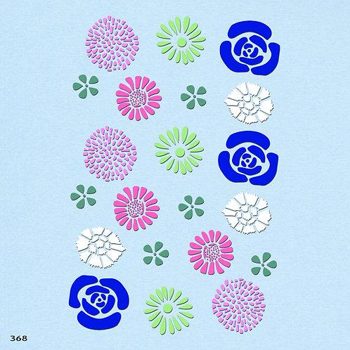 368 שבלונה פרחים