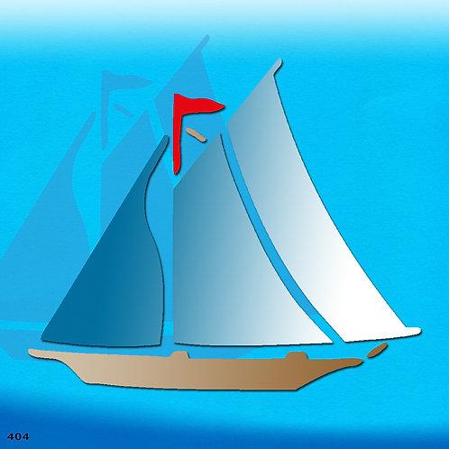 404 שבלונה ספינת מפרש