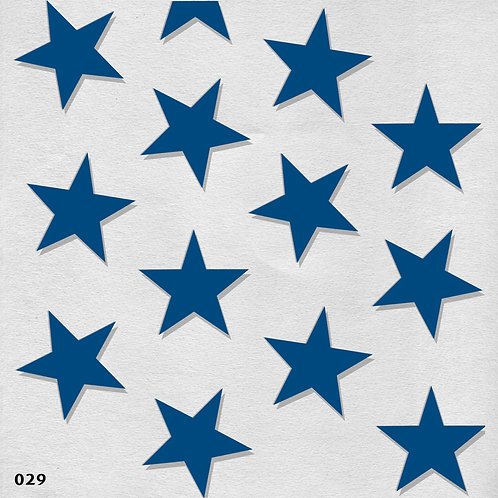 029 שבלונה טפט בדוגמת כוכבים