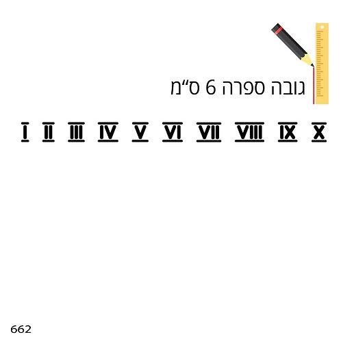 שבלונת ספרות רומיות 662