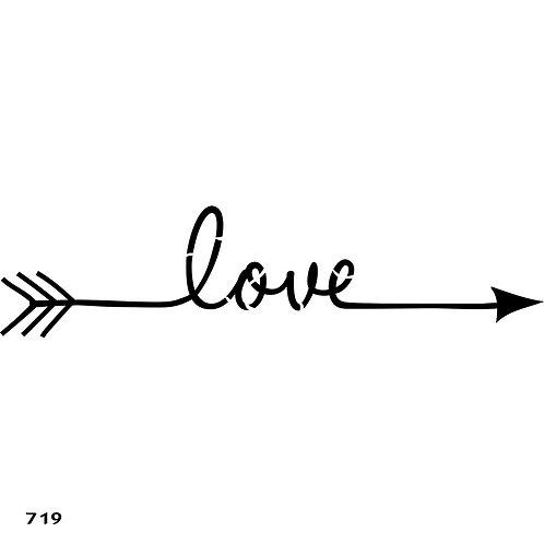 719 שבלונה חץ עם LOVE