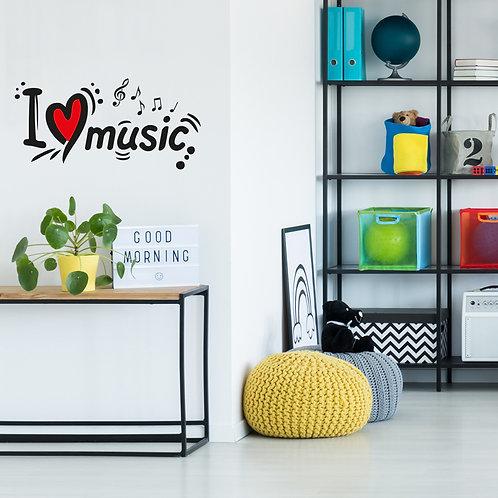 472 שבלונה I LOVE MUSIC
