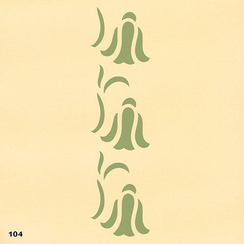 104 שבלונה בורדר עיטורים