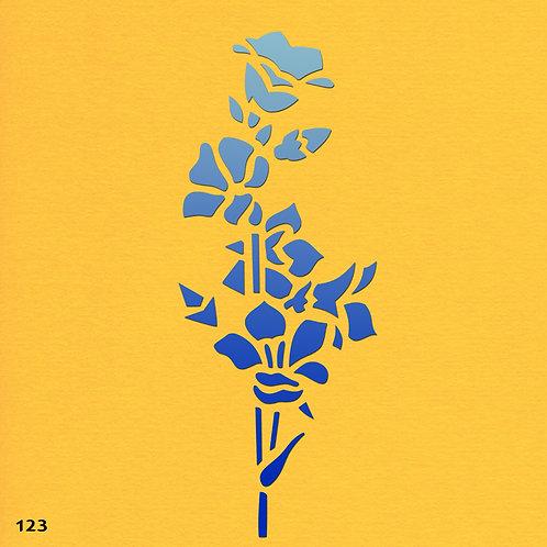 123 שבלונה פרחים על גבעול ארוך
