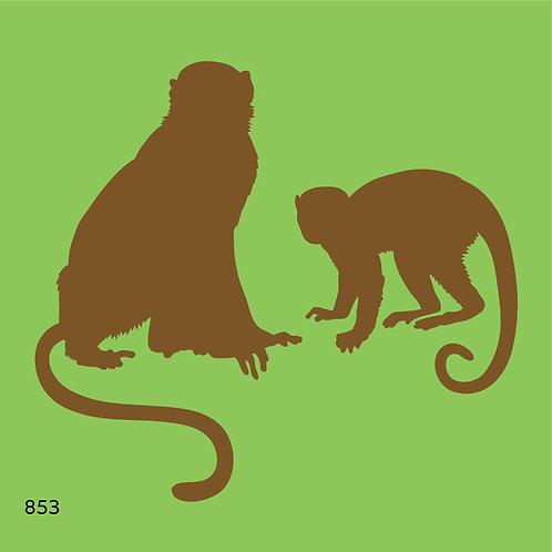 853 שבלונה קופים