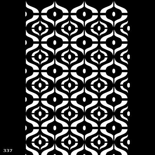 337 שבלונה טפט בדוגמה גאומטרית בסגנון רטרו