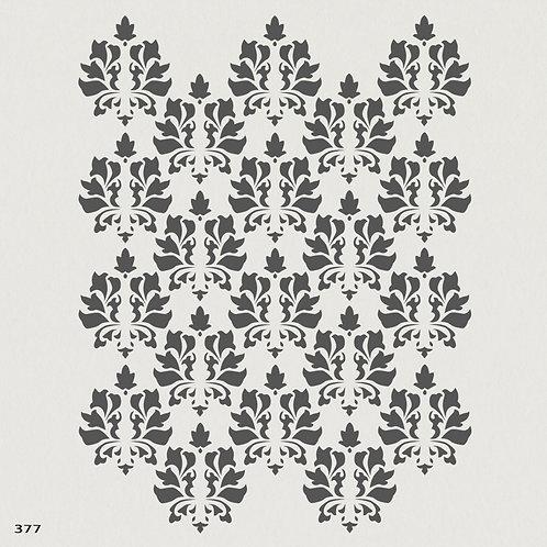 377 שבלונה טפט בדוגמה קלאסית