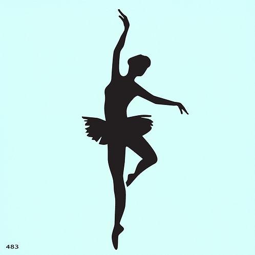 483 שבלונה רקדנית בסגנון קלאסי