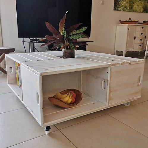 2501002 שולחן עץ עשוי 4 ארגזי עץ - מודולרי