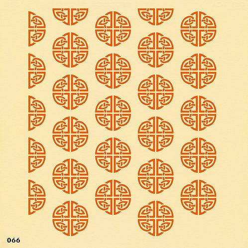 066 שבלונה טפט בדוגמה סינית