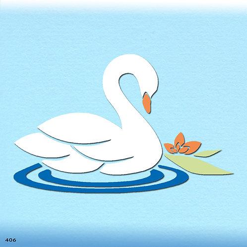 406 שבלונה ברבור על המים