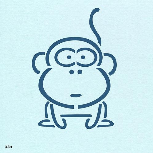 384 שבלונה קוף חמוד